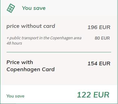 Copenaghen Card Risparmio